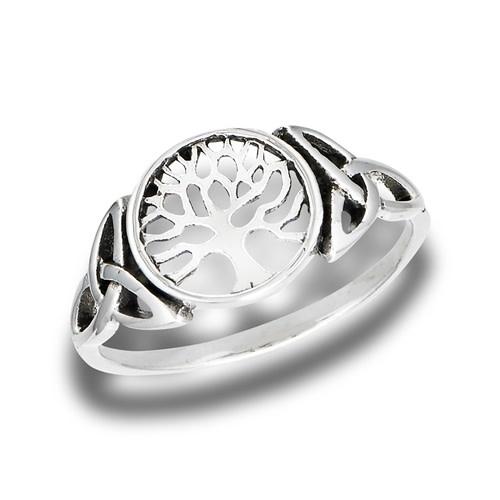 Ring: SS Tree of Life w/Trinity