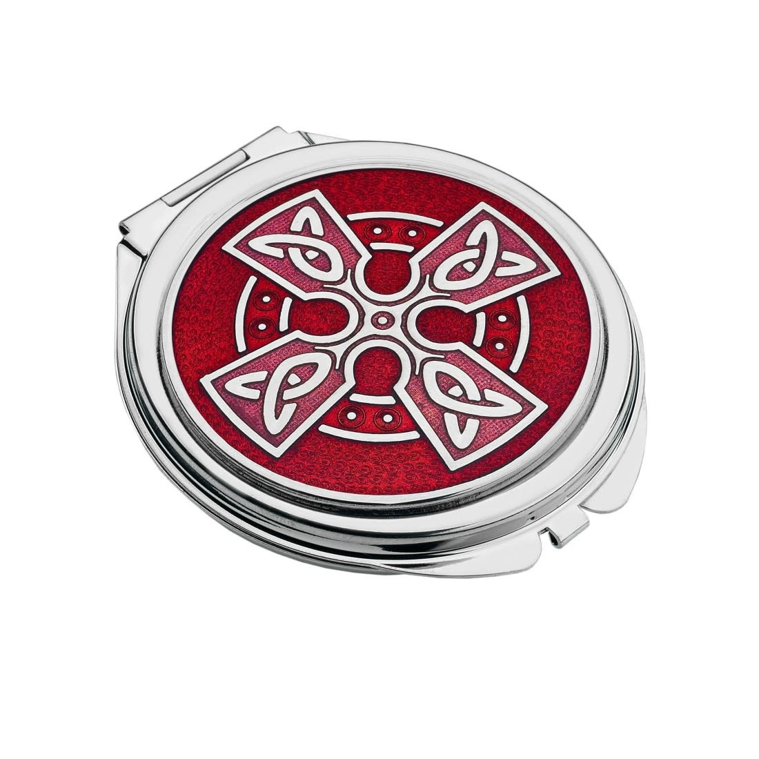 Mirror: Compact Celtic Cross Red