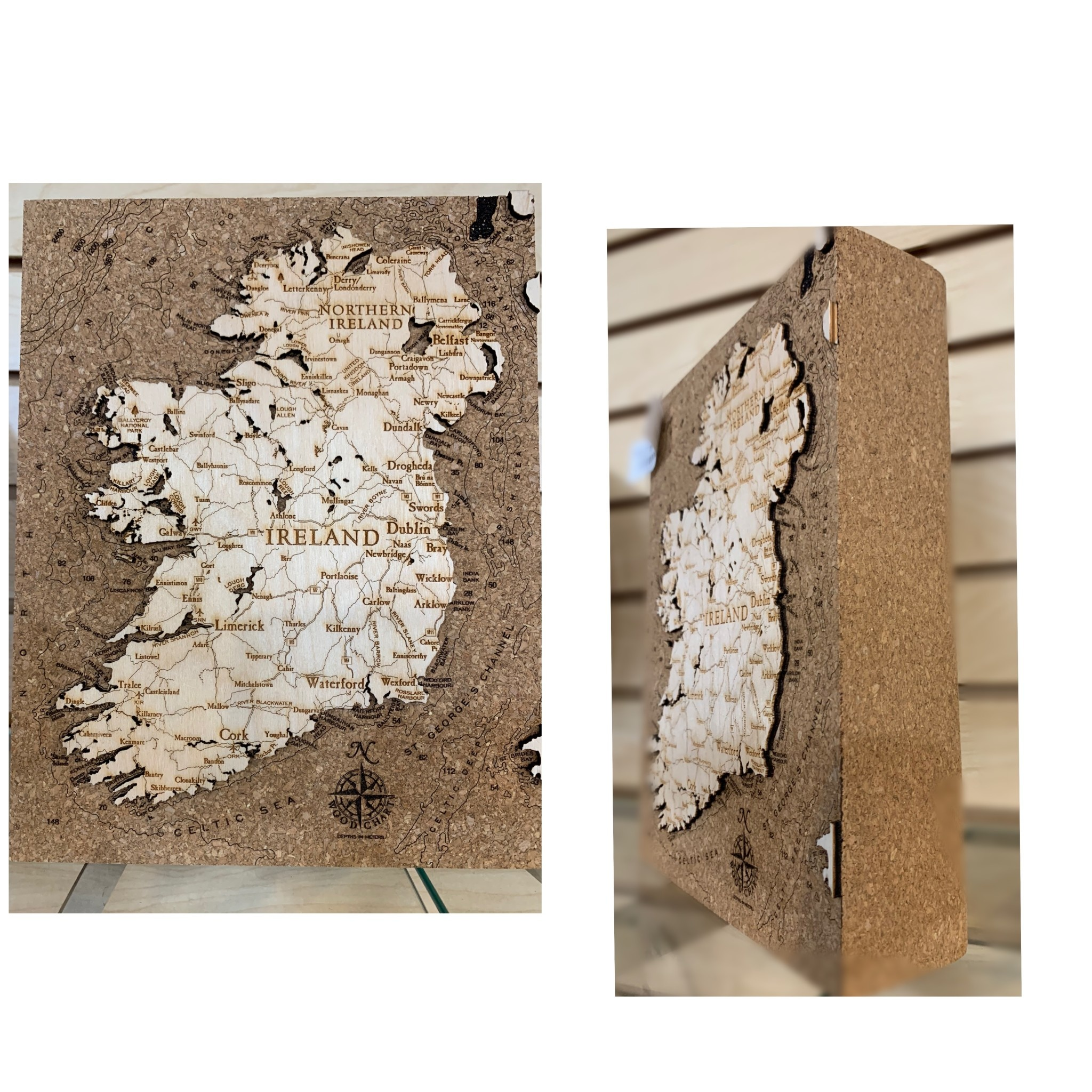 Artwork: 3D 8X10 Cork Map