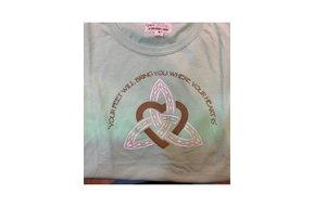 T Shirt:  Womens Mint Trinity Heart