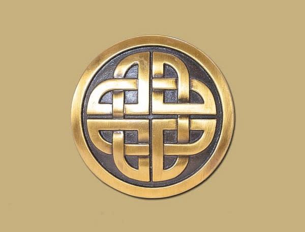 Belt: Buckle Shield Knot Brass