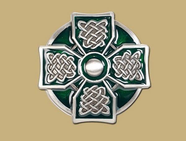 Belt: Buckle Cross Green