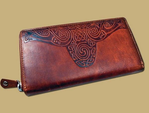 Wallet: Ladies Roisin Embossed Brown