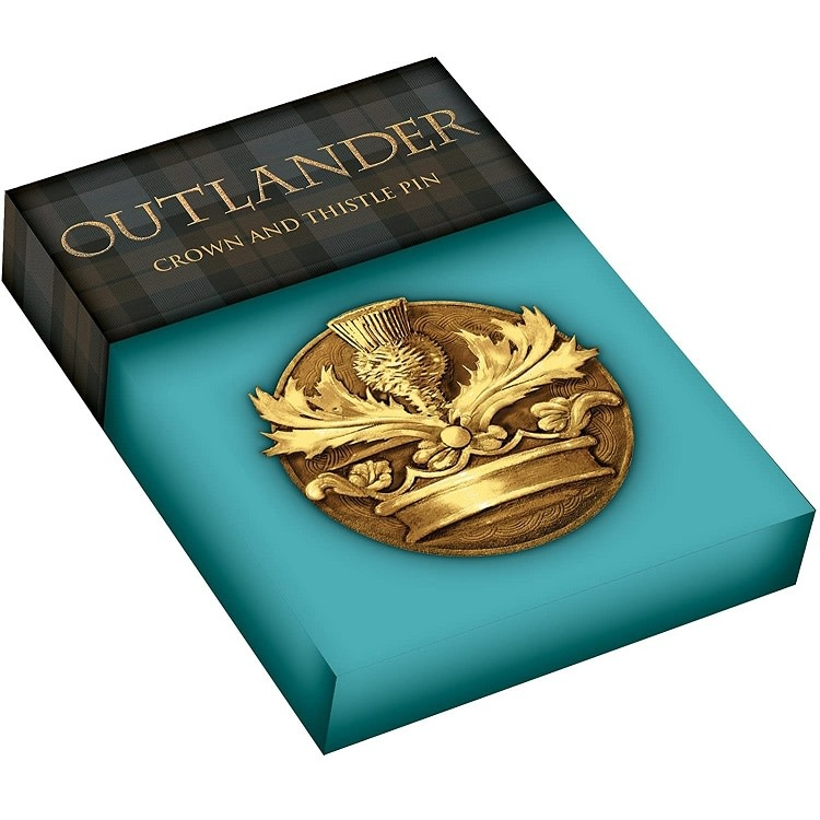 Pin: Outlander Crown & Thistle, Bronze