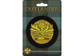 Patch: Outlander Crown & Thistle, Embroidered