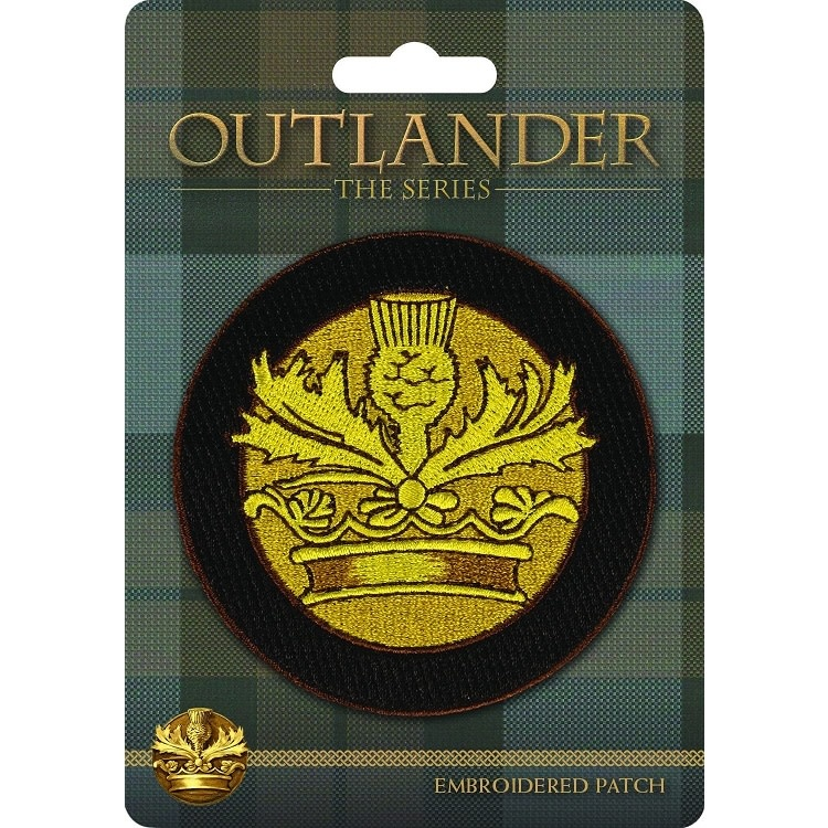 Outlander Patch: Outlander Crown & Thistle, Embroidered