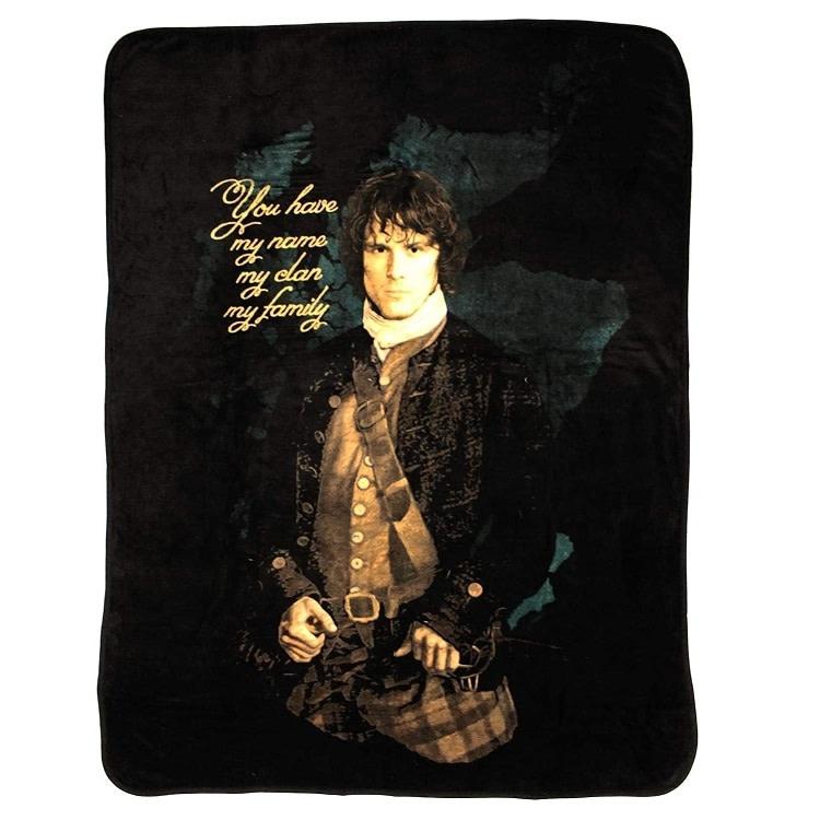 "Outlander Blanket: Outlander Jamie, Fleece, 45""x60"""