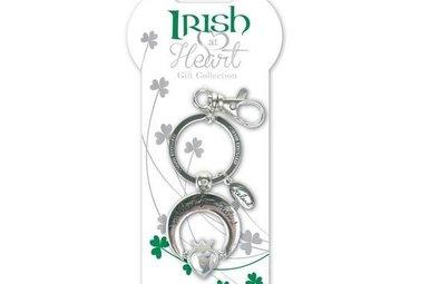 Claddagh Irish at Heart Irish Keyring