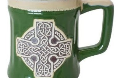 Mug-Celtic Cross Pottery