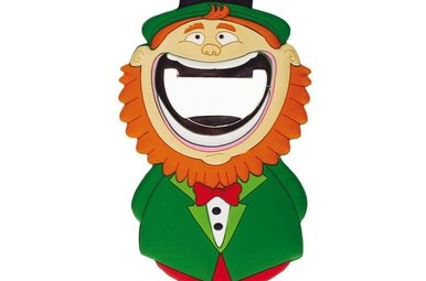 Lucky Leprechaun PVC Opener Magnet Wide Mouth