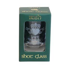 Shot Glass – Claddagh