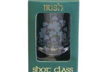Shot Glass-Sprig Shamrock