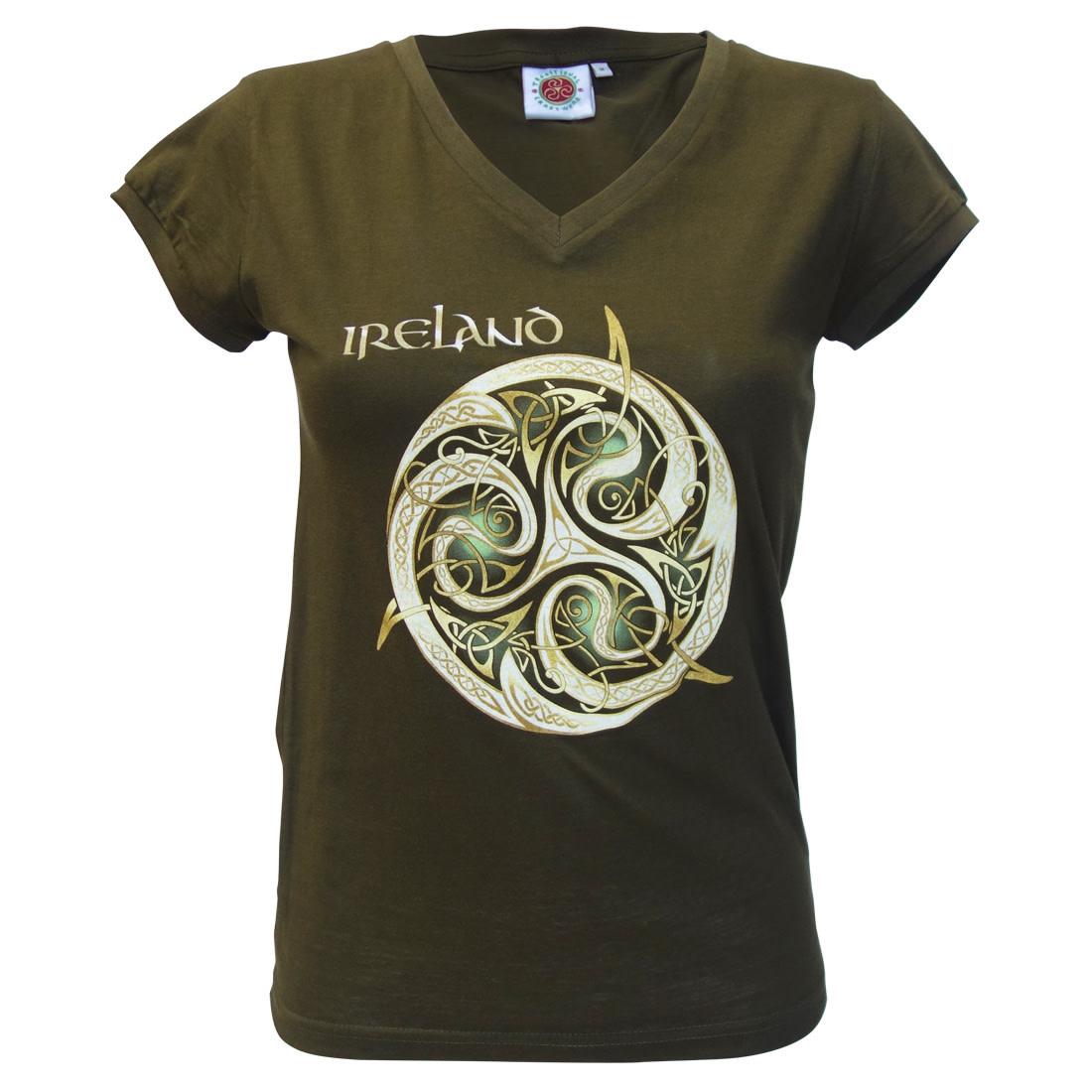 T-shirt-Ladies Ireland V Neck