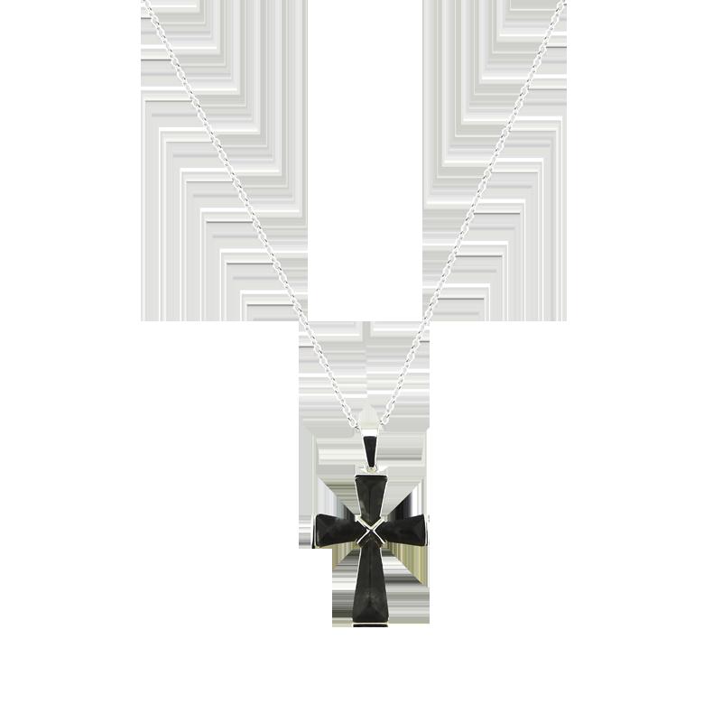 Connemara Marble Pendant: Connemara Marble Cross, SS