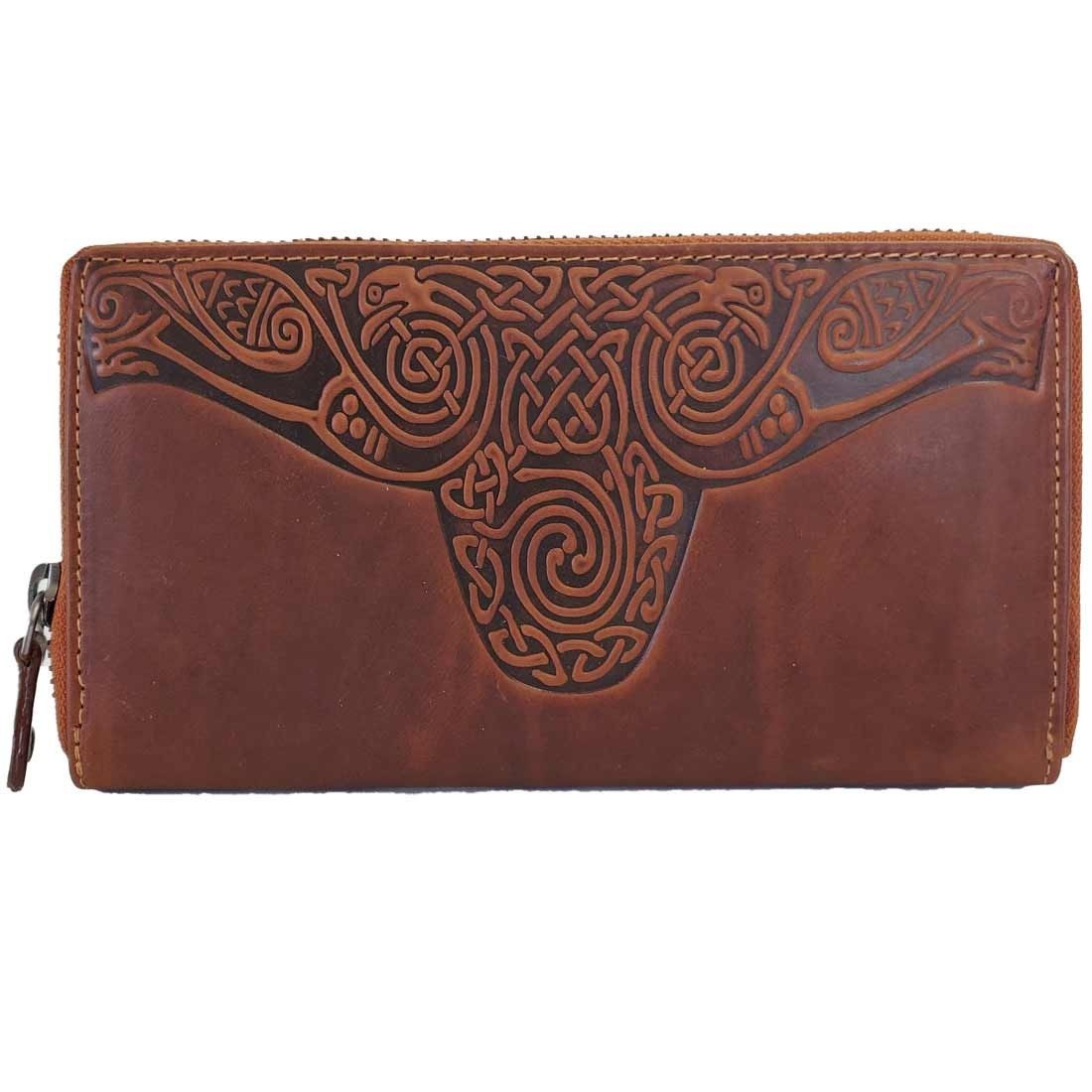 Wallet: Ladies Roisin Embossed Tan