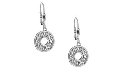Earring: Sterling Silver Eternity Knot
