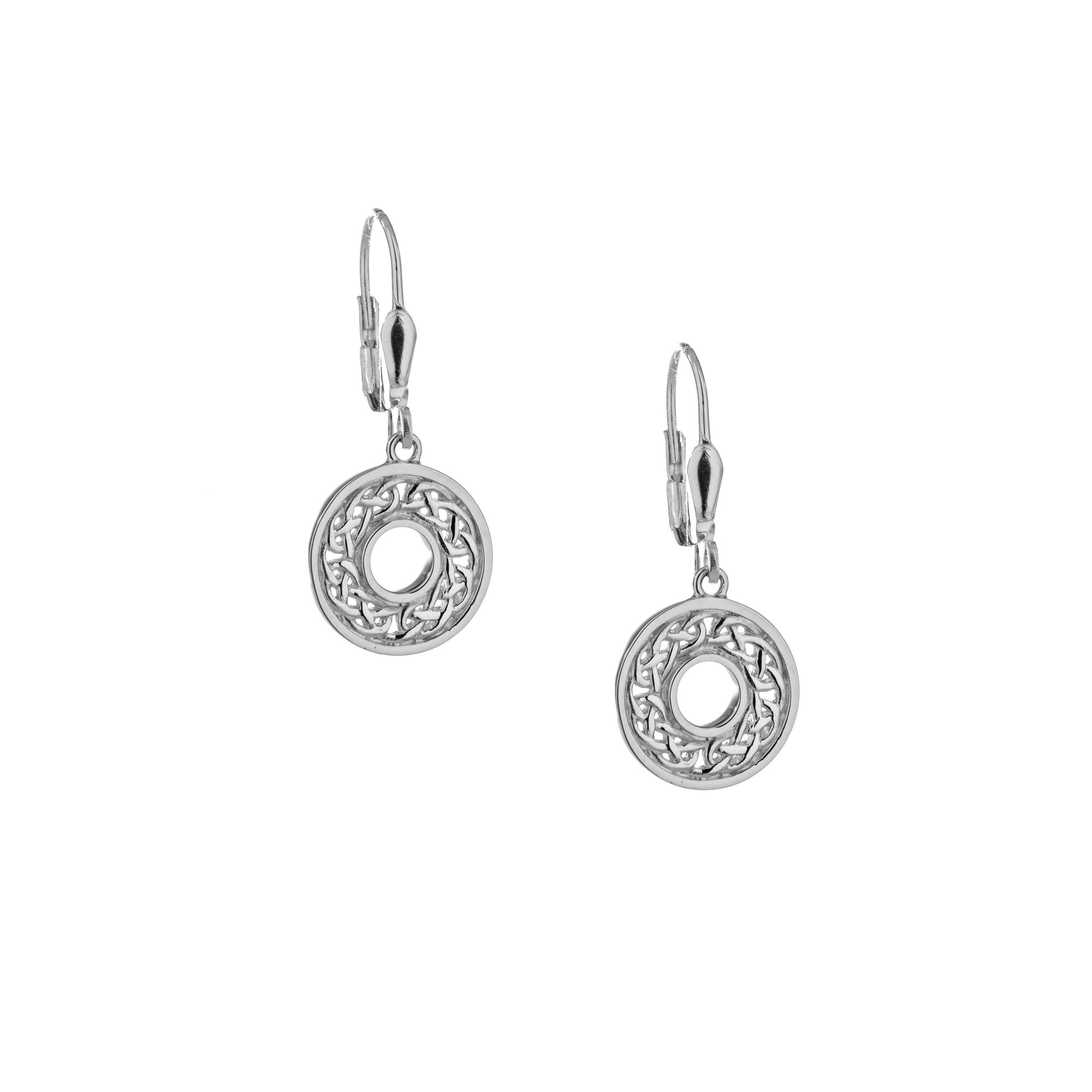 Keith Jack Earring: Sterling Silver Eternity Knot
