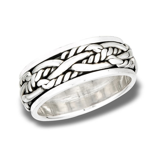 Ring: SS Heavy Interwoven Rope Spinning