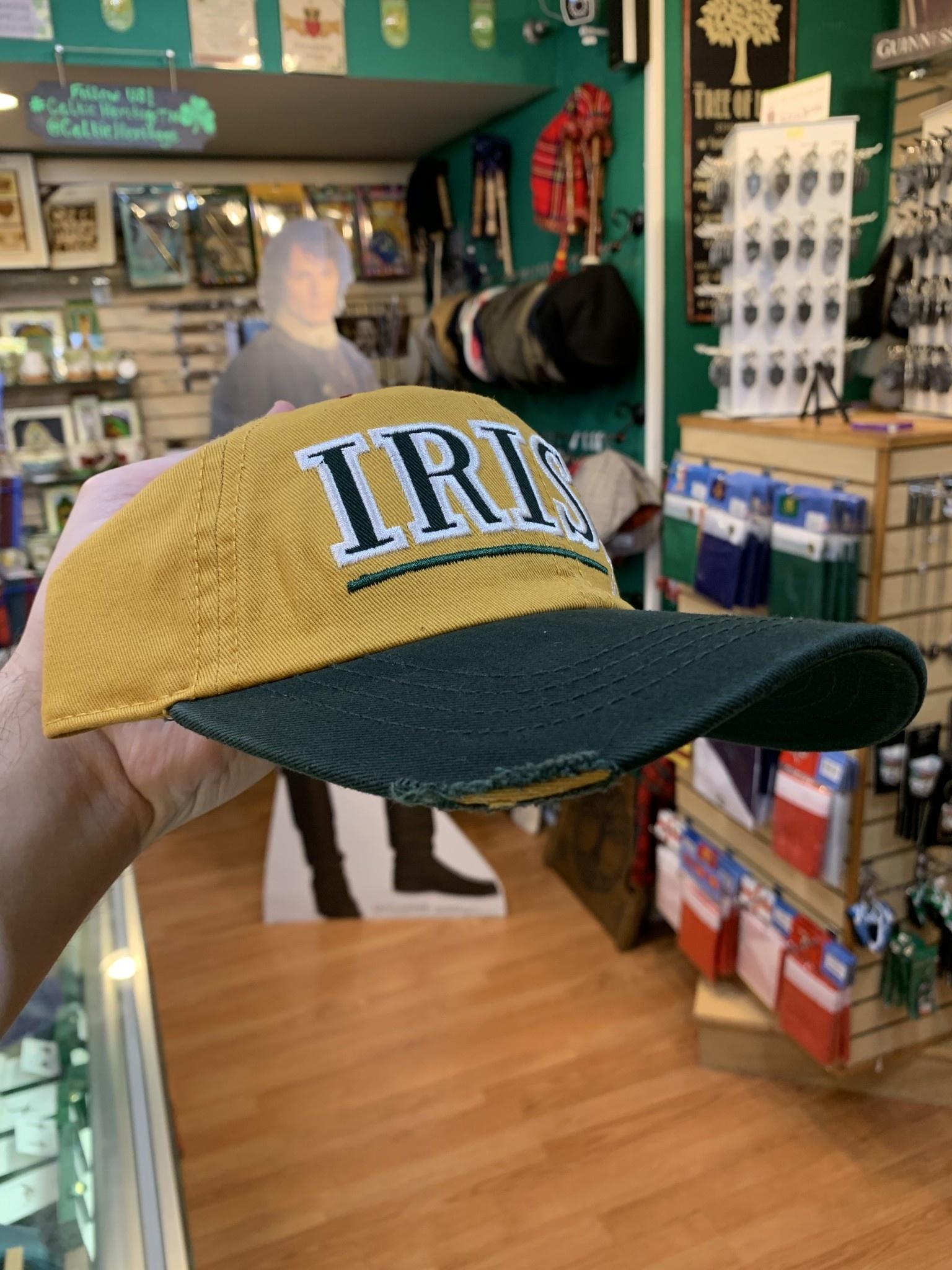 Hat: Irish Slainte, Mustard, Baseball