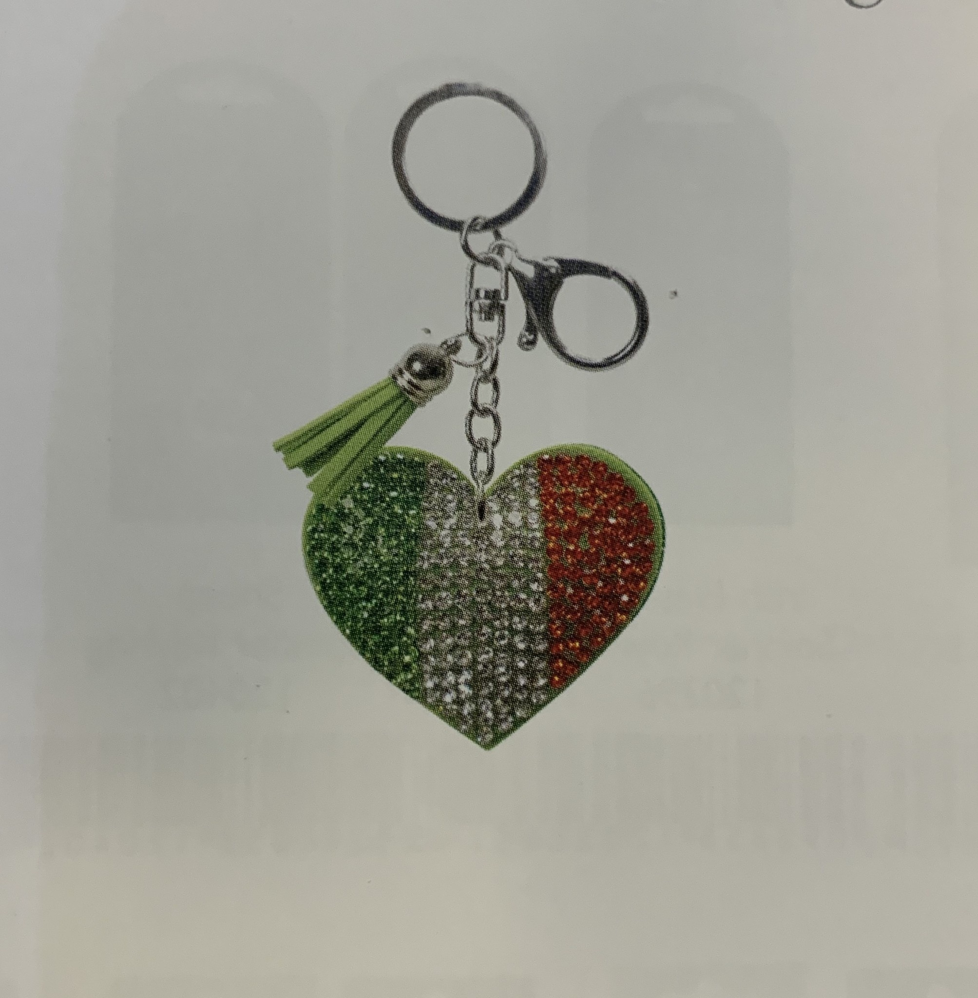 Keyring: Rhinestone Ireland Heart