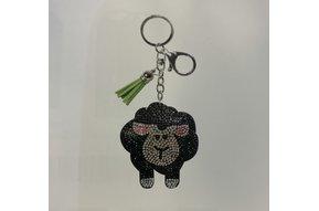 Keyring: Rhinestone Black Sheep