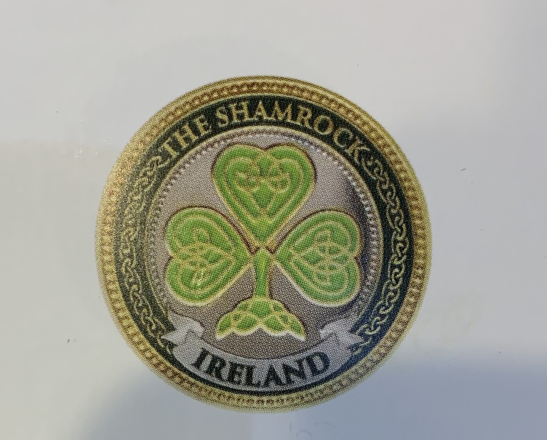 Charm: Collectors Coin Shamrock
