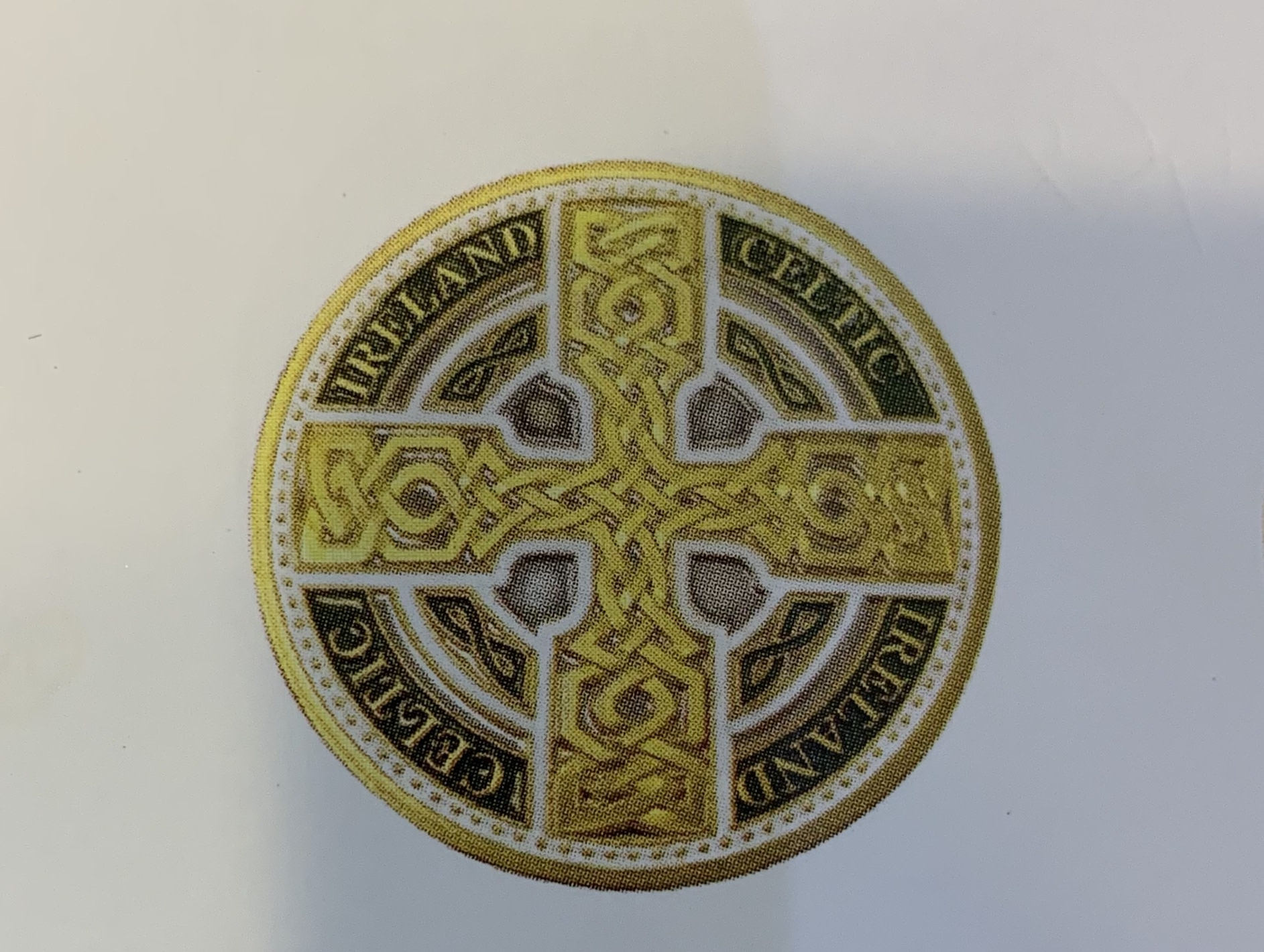 Charm: Collectors Coin Celtic Cross