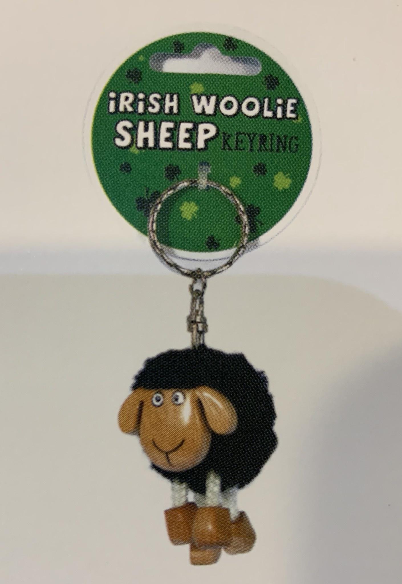 Keyring: Pom Pom Sheep Black