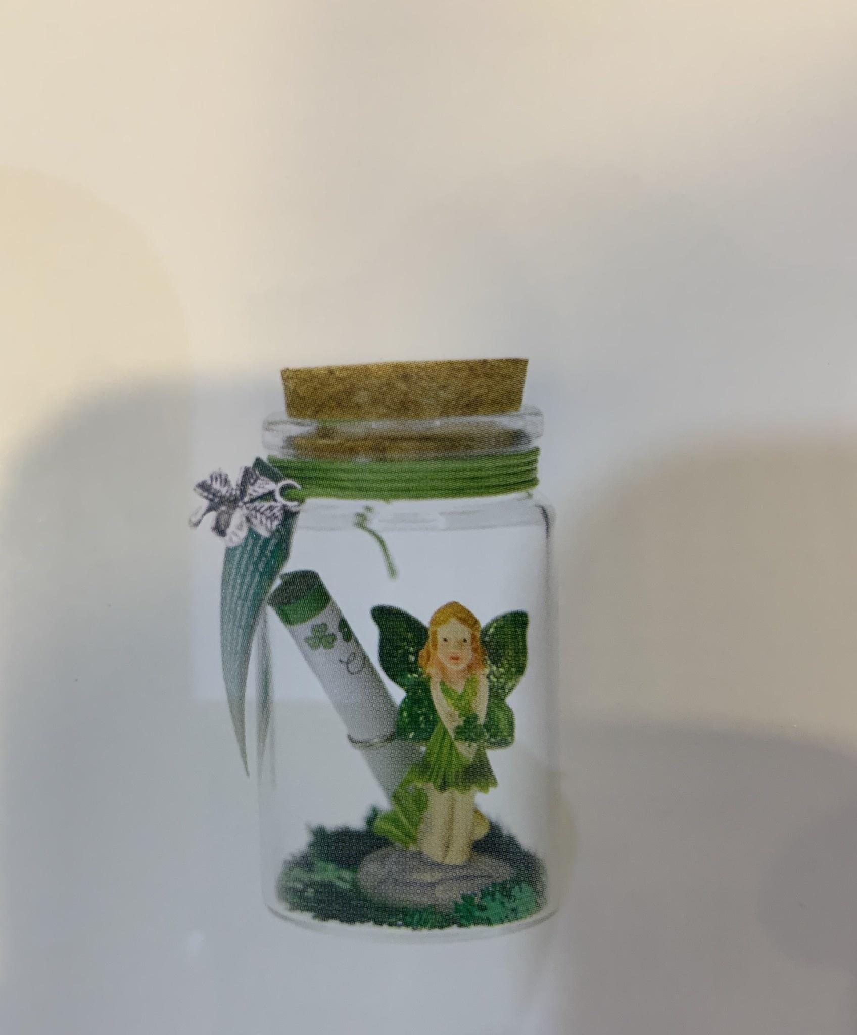 Wishing Jar: Good Luck Irish Fairy
