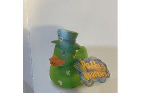Toy: Rubber Duck, Green Shamrock