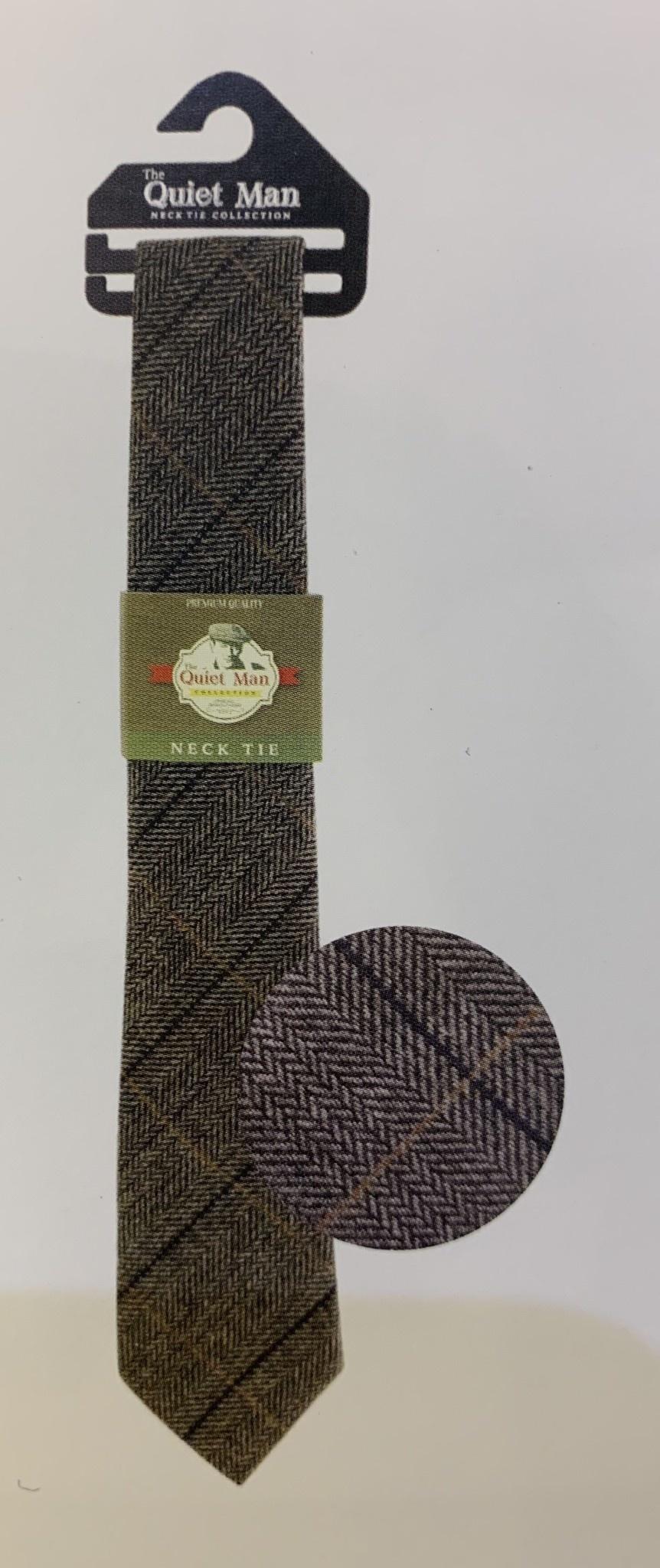 Tie: Quiet Man Tartan & Herringbone