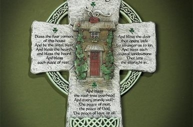 Wall Hanging: Celtic Cross Irish Blessing