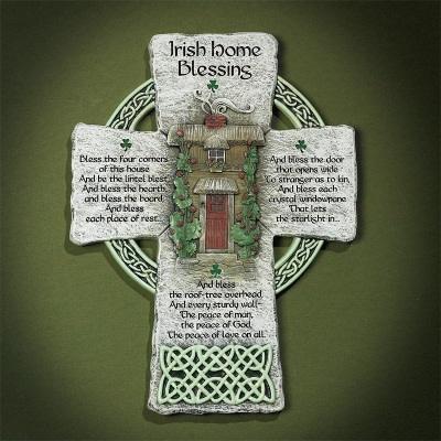 Wall Hanging: Celtic Cross Irish Blessing