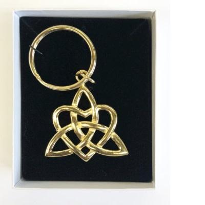 Keyring: Gold Trinity Heart