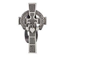 Visor Clip: Claddagh Cross
