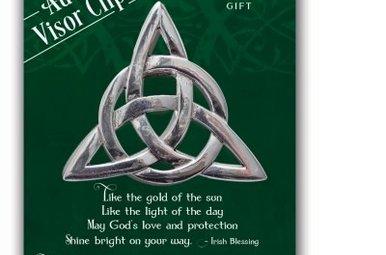 Visor Clip: Trinity Knot