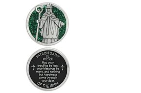 Pocket Token: St. Patrick w/Green