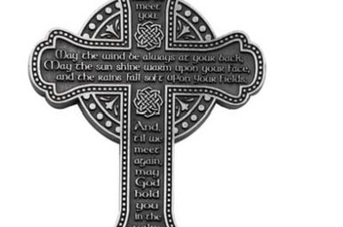 "Wall Mount: 5.5"" Irish Blessing Celtic Cross"