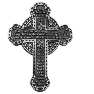 "Wall Mount: 5.5"" Irish Blessing Celtic Cross"