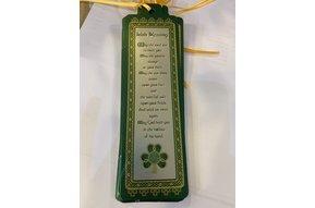 Bookmark: Shamrock Irish Blessing