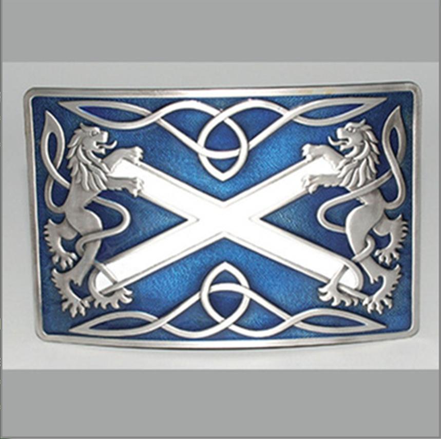 Glen Esk Buckle: Highland Saltire, Blue
