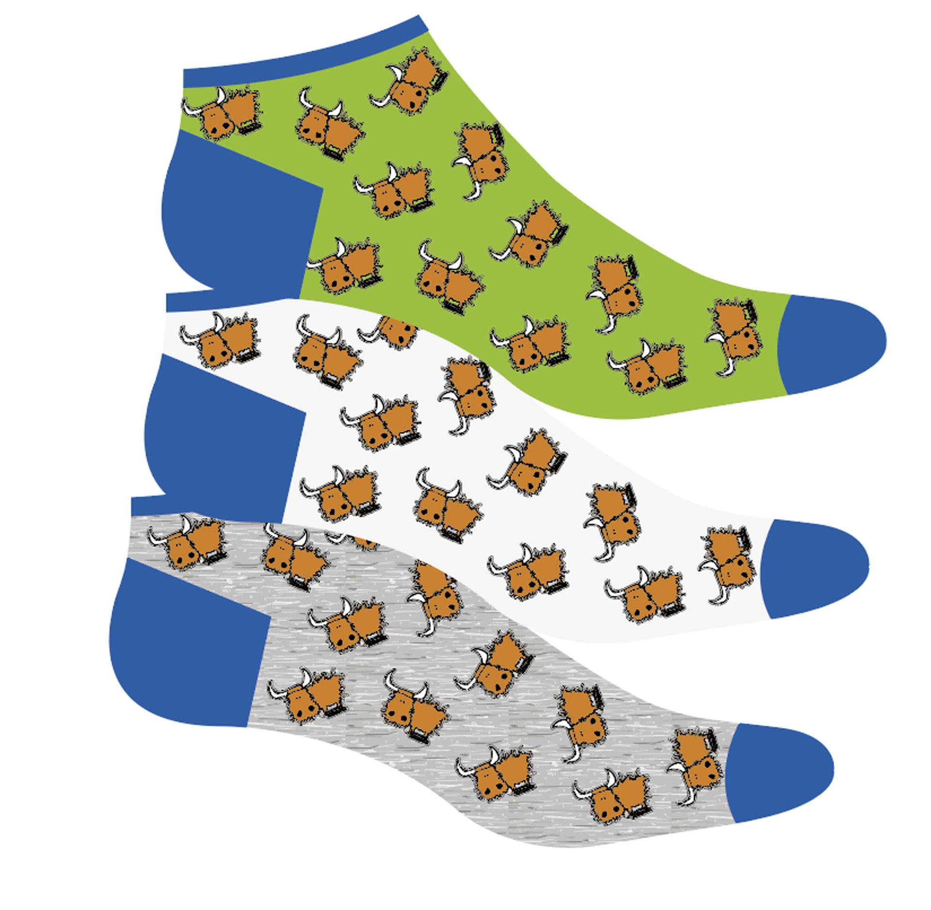 Socks: Highland Cow