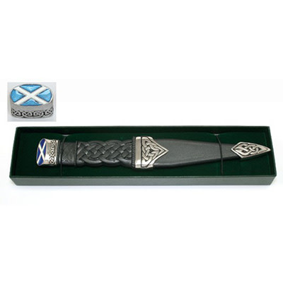 Glen Esk Sgian Dubh: Dress, Blue Saltire