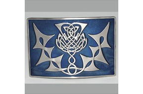 Buckle: Thistle Knot, Blue