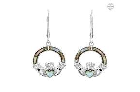 Earrings: Abalone Cladd