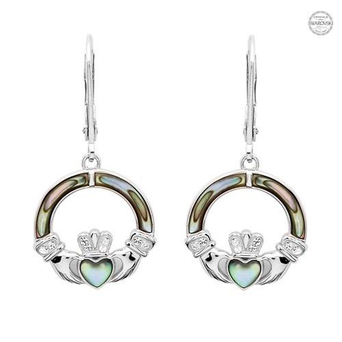 Shanore Earrings: Abalone Cladd