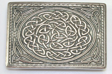 Buckle: Knot, Polished Pewter