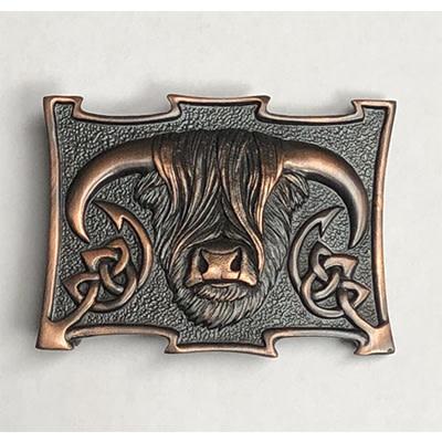 Glen Esk Buckle:  Coo, Choc. Bronze Pewter