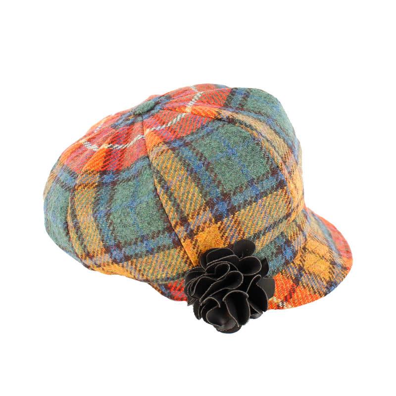 Hat: Ladies Newsboy, Orange