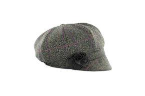 Hat: Ladies Newsboy, Grn Lg Chck